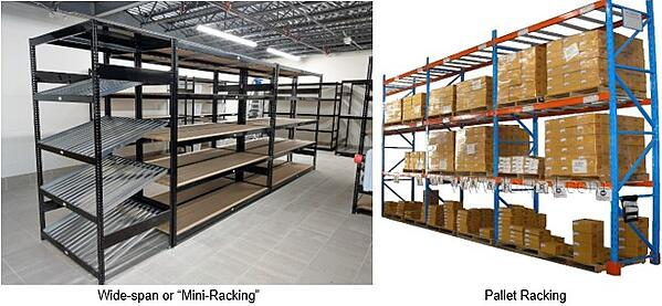 Mini and Pallet Rack Duo