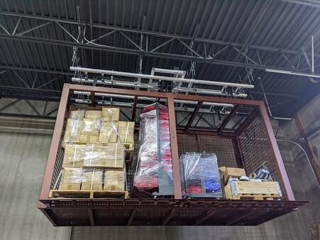 Overhead Storage Platform