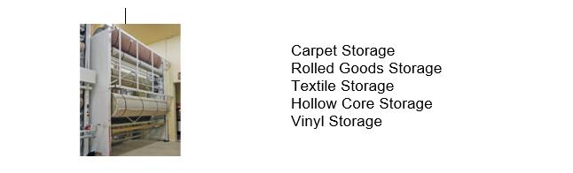Rolled goods vertical storage
