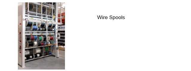 Vertical storage-wire spools