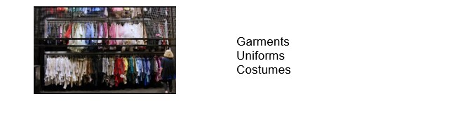 Vertical storage-garments-costumes