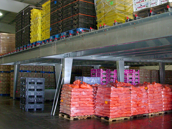 WPSS Mezzanine-pallet rack flow