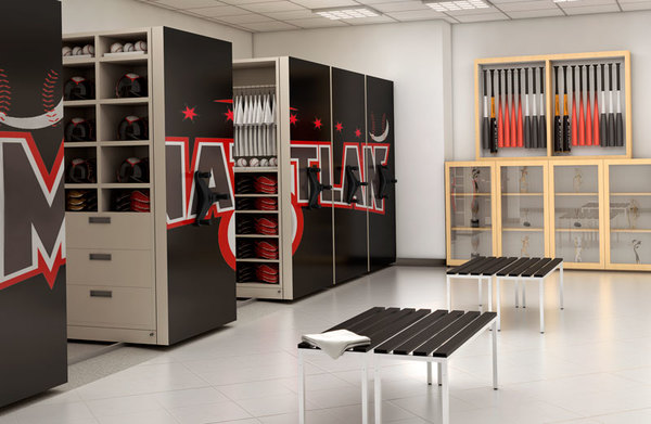 Mobile Shelving with logo-Aurora