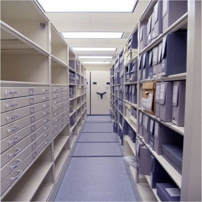 Flat Files in Mobile Cabinets