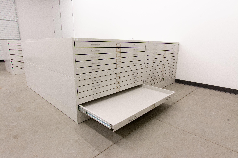 Benton Museum-Flat File Cabinets