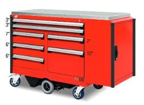 Motorized Cabinet with side cabinet