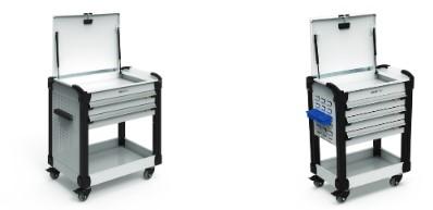 Tool Carts-2-shelves lid