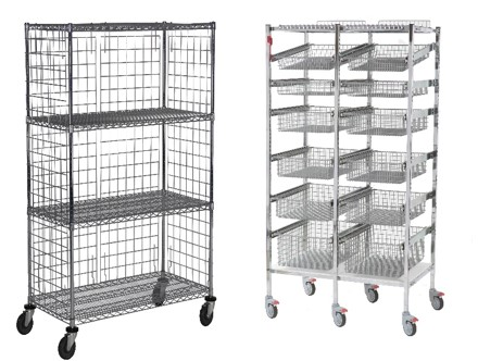 Wire Carts-basket and shelves