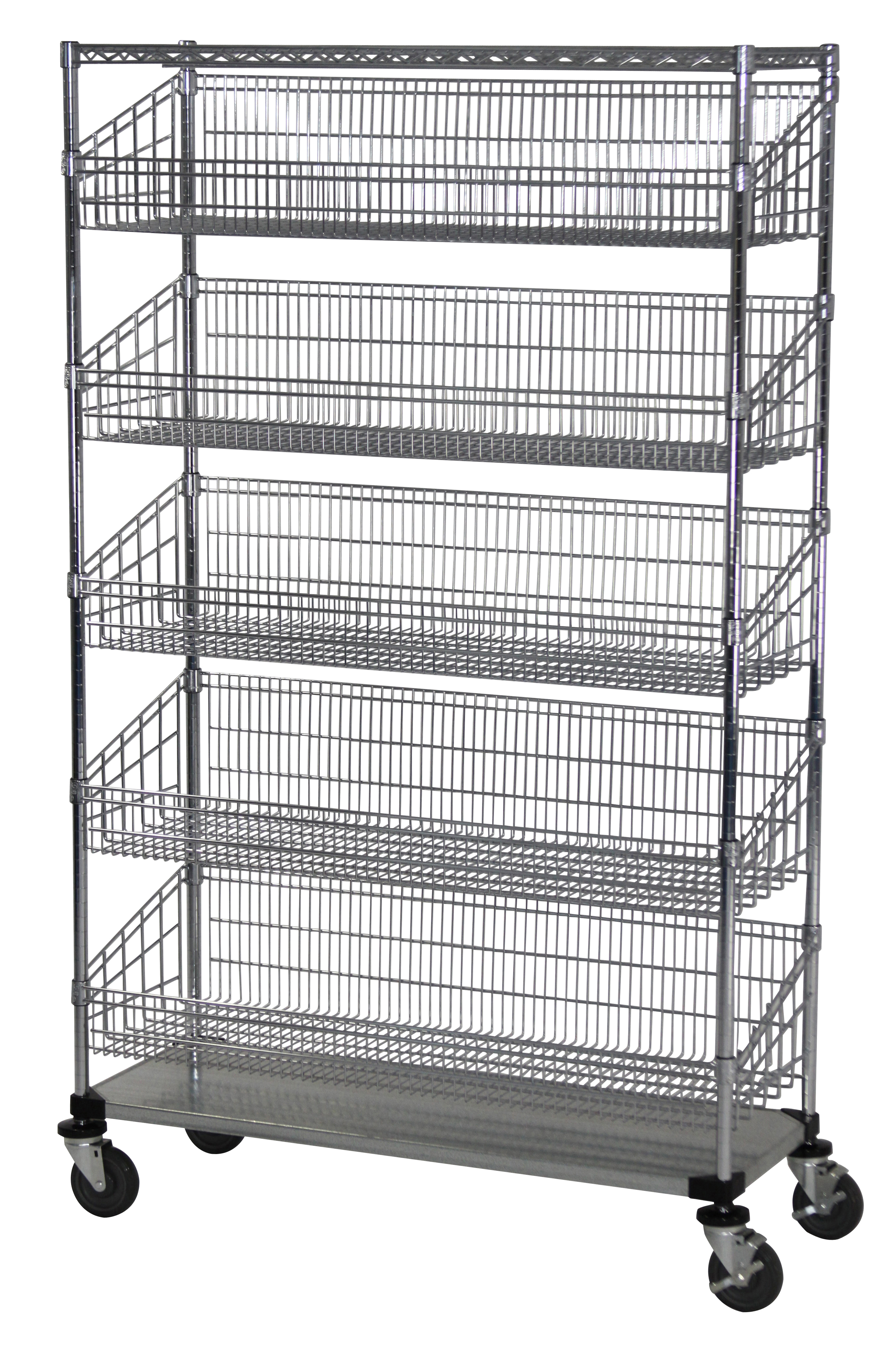 Wire Cart with Mesh Baskets
