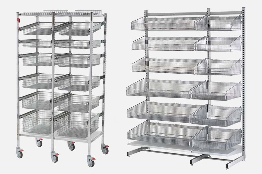 Wire Carts with adjustable baskets/shelves