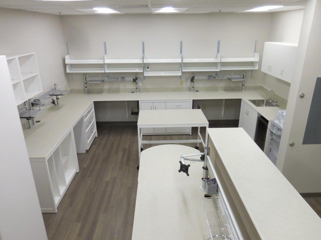 Modular Millwork-White Lab