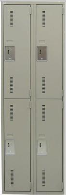 Two tier metal locker