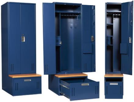 Metal gear lockers