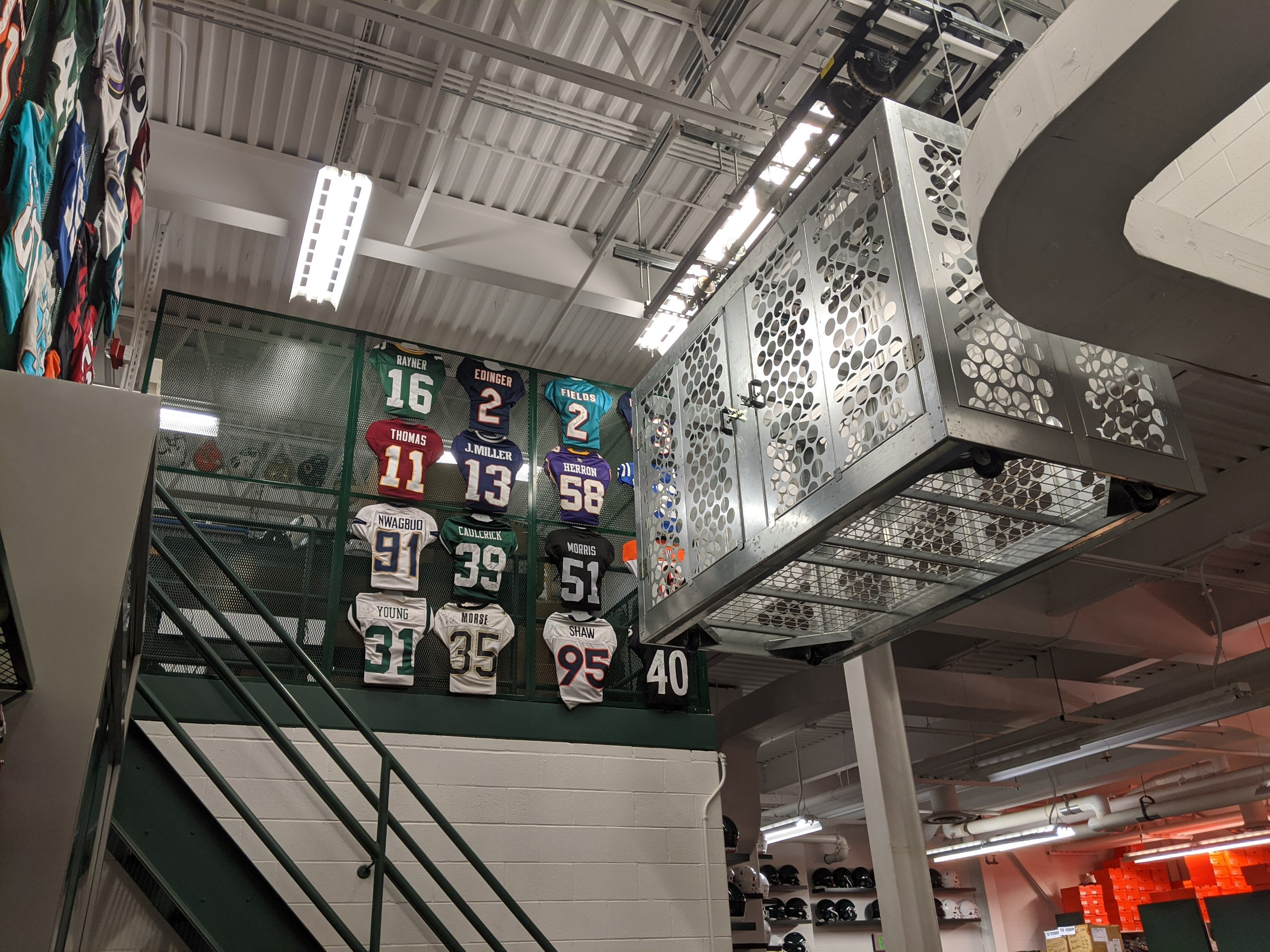 Overhead storage-Michigan State Cage