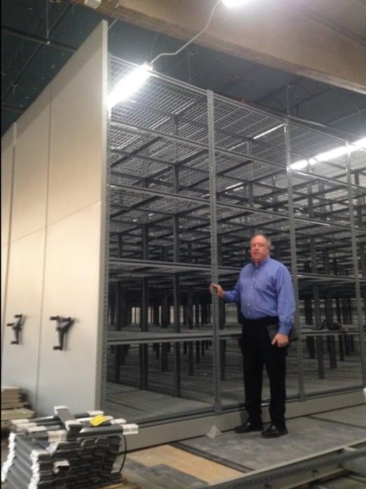 mobile shelving-industrial shelving vented