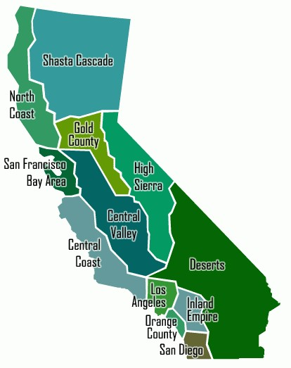 Map of CA Regions