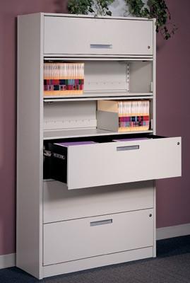 Case-type Drawer shelving
