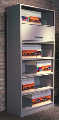 Shelving with Flip Doors