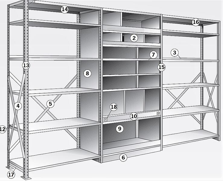 Clip Shelving Graphic