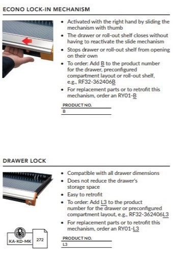 Econo LockIn-Drawer Lock
