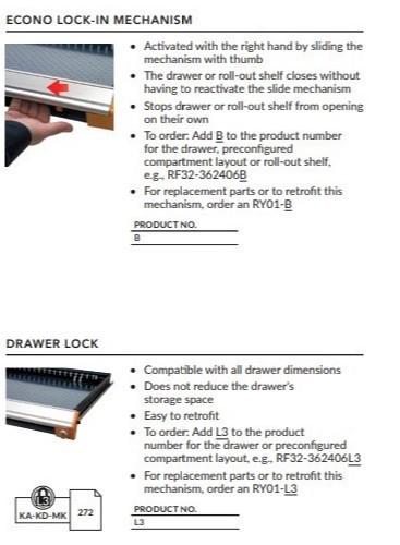Econo LockIn-Drawer Lock