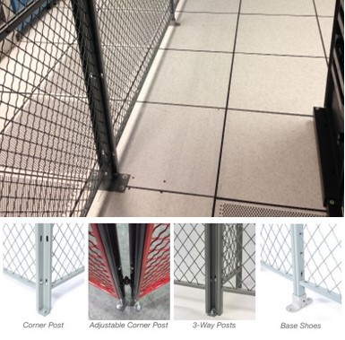Wire Partitions-Corner Posts images