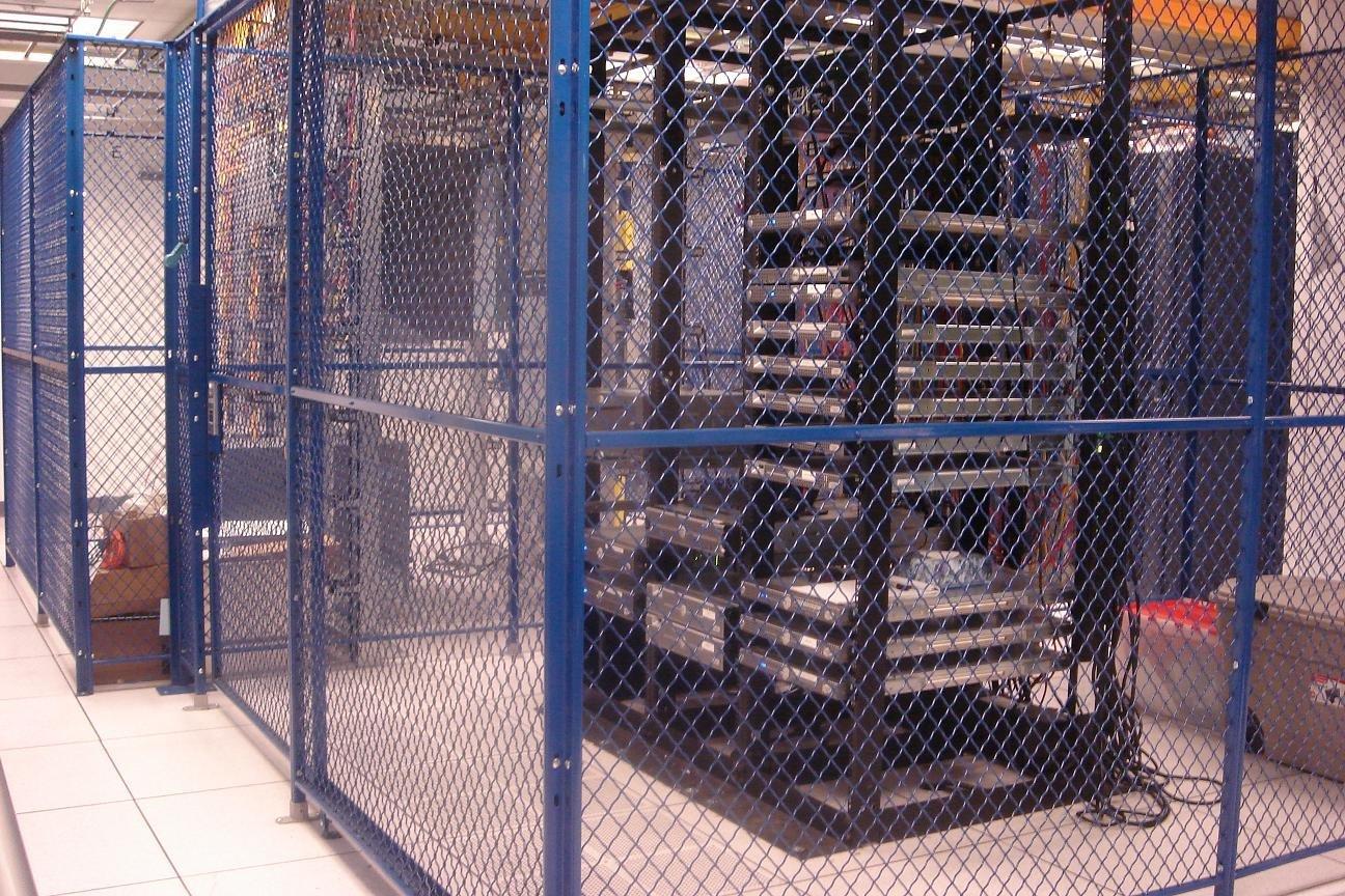 Data Center Wire Cage-blue