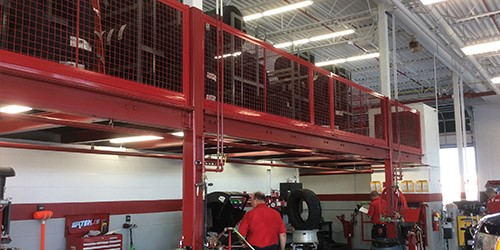 Mezzanine Wire Guarding-red