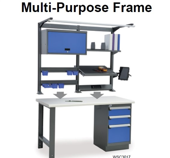 Above work surface-multi-frame