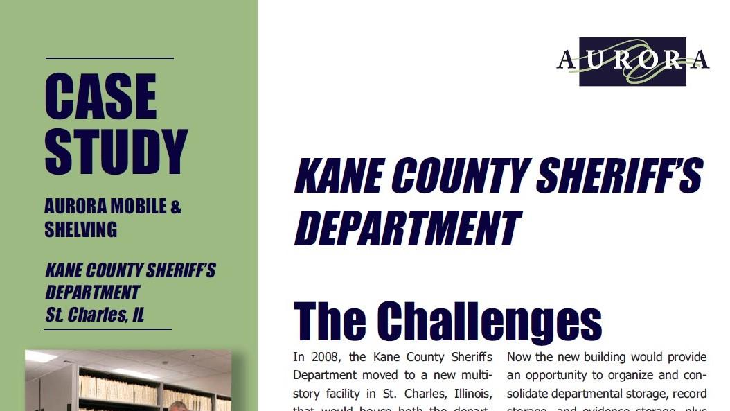 Case Study-Aurora-Kane County Sheriff