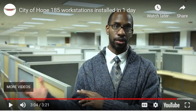 Video-City of Hope installs 185 workstations in one day