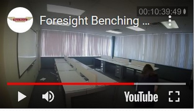 16-9 Video-Foresight Benching Installation