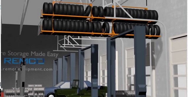 Video-Overhead Tire Storage