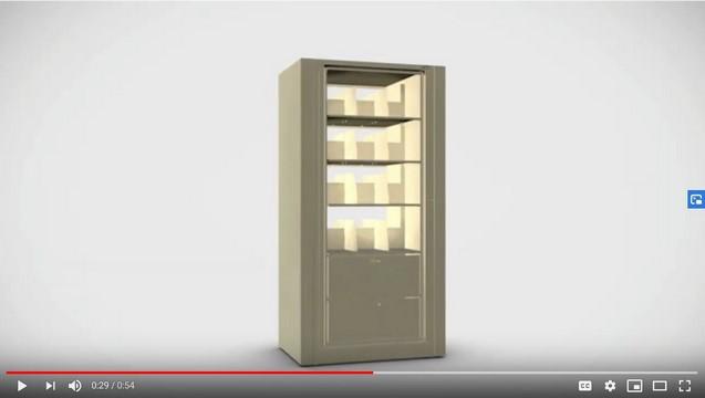 Video-Rotary Storage Cabinet