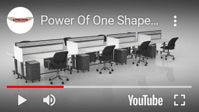 Video-Shape Workstation Configurations-sit-stand desk