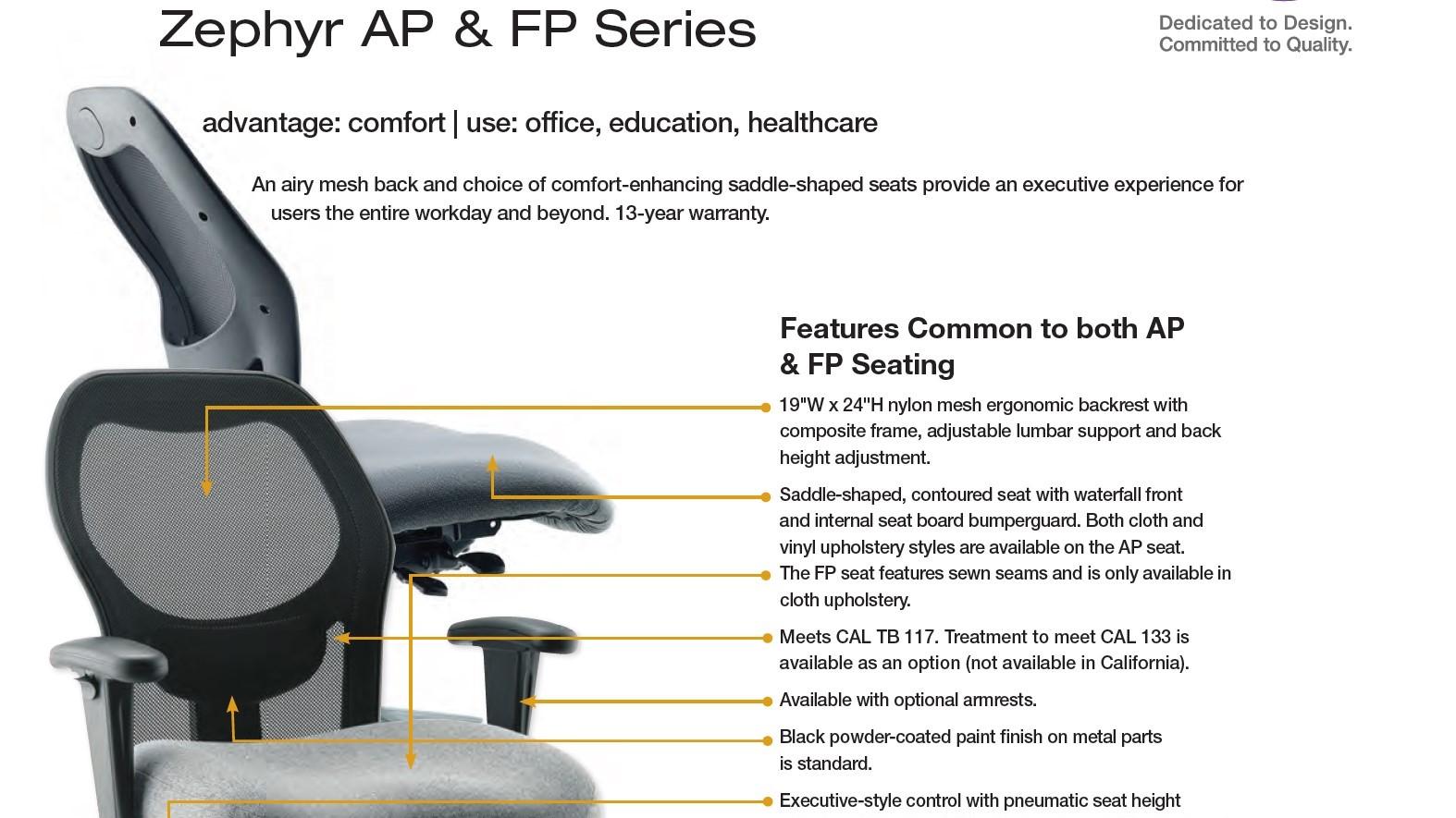 Brochure-Biofit Zephyr Seat Series