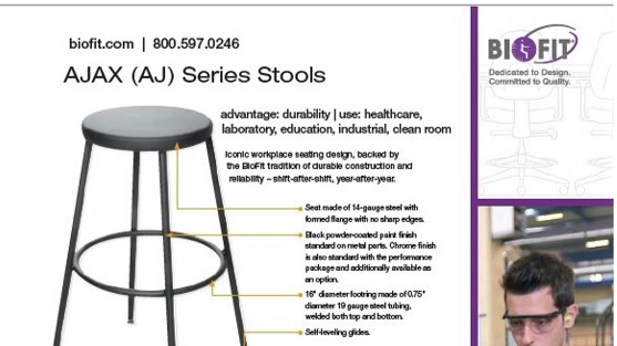 Brochure-Biofit-Ajax Stool-2020 sheet