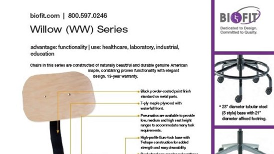 Brochure-Biofit-Willow series sheet 2020