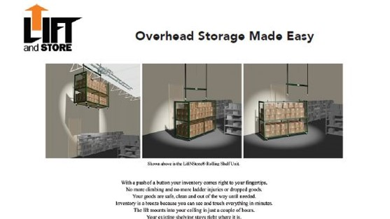 Brochure-LiftnStore-Overhead Cart Storage