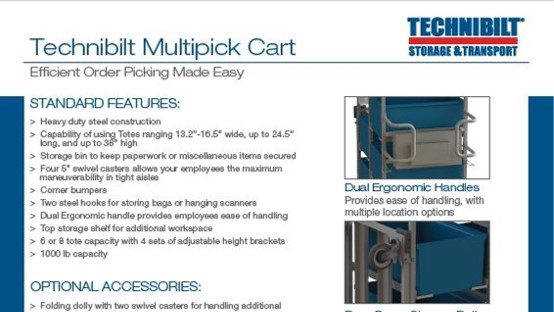Brochure-Technibilt-Multipick Cart