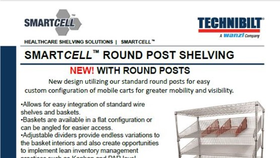 Brochure-Technibilt-SmallCell Round Post Shelving