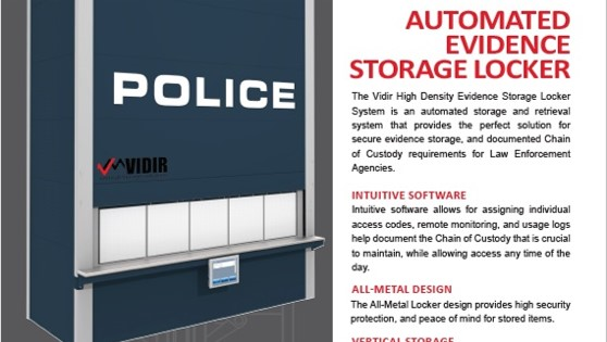 Brochure-Vidir-Automated Evidence Storage Locker