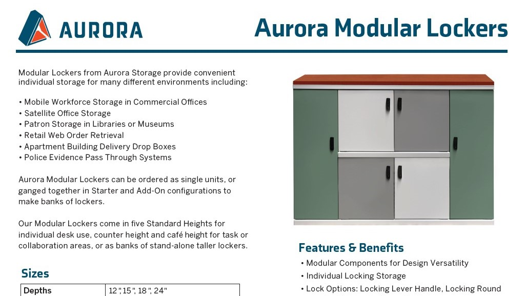 Brochure-Aurora-Modular Lockers sgl sheet