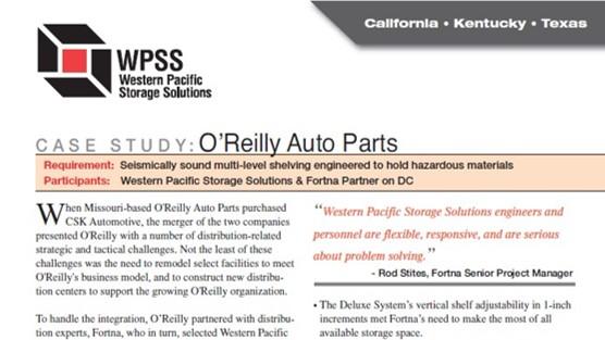 Case Study-WPSS Multi-level Shelving