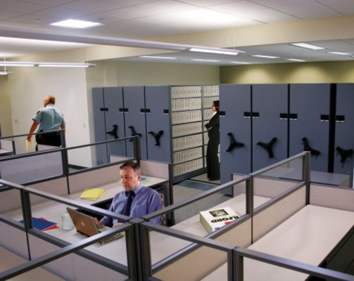 Mobile Shelving for government, police records