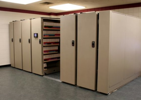 Mobile Shelving for Office Records