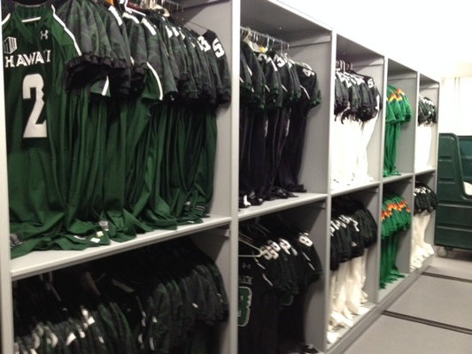 Mobile Shelving for Athletics-Team Sports