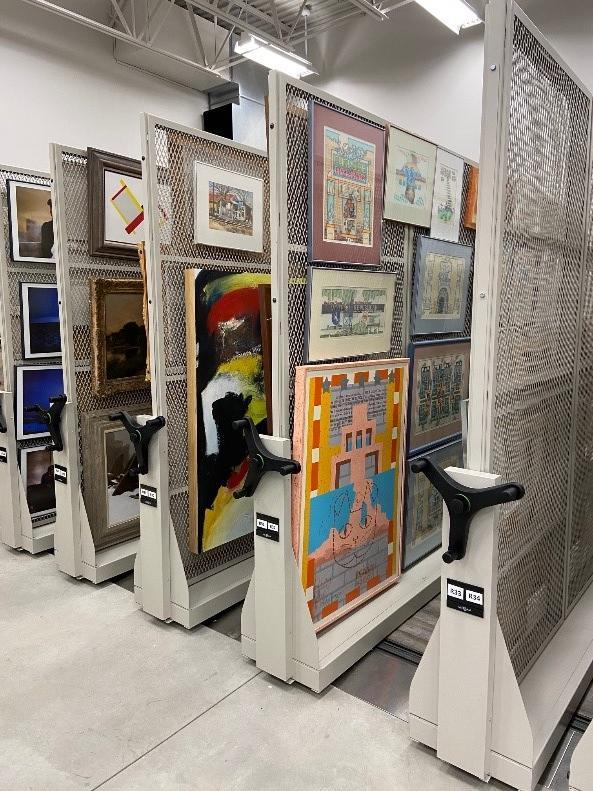 Compactor Shelving-Art Storage