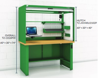 Workstation hutch workbench