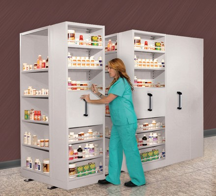 Pharmacy Manual Mobile Shelving
